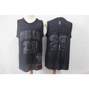Chicago Bulls Michael Jordan Black MVP Jersey